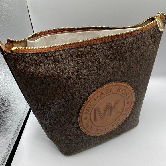 Michael Kors Handbags - Michael Kors Fulton Sport Shoulder Bag in Brown